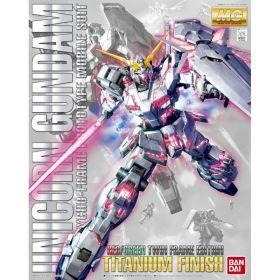 MG 1/100 Unicorn Gundam (Red / Green Frame Twin Frame Edition) Titanium Finish
